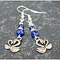 Cygnes amoureux et lapiz lazuli