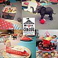 Life is a circus ! (table d'anniversaire sur le thème du cirque)