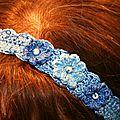 Bandeau bleu fleur c