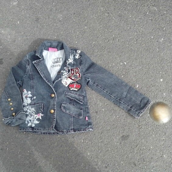 veste jean Barbie