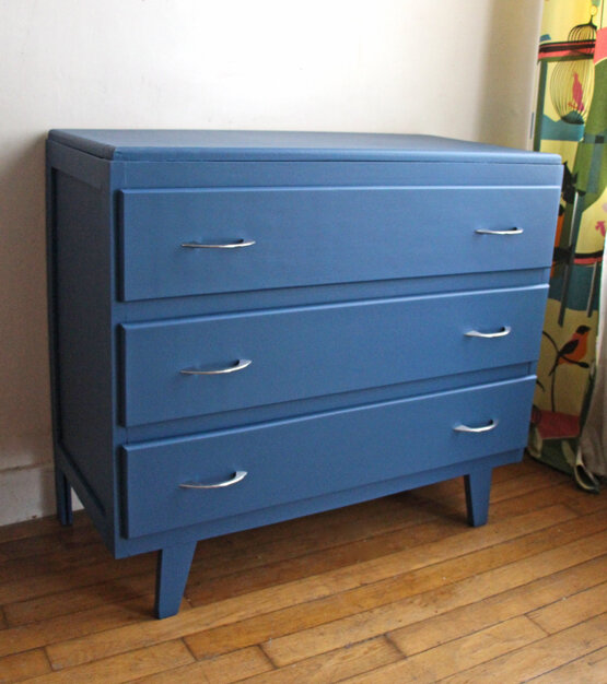 commode-vintage-bleu-de-chine-face