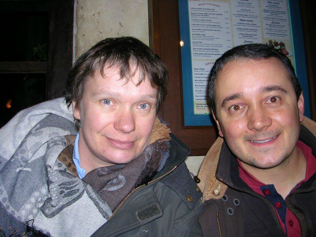 avec Hubert, décembre 2012