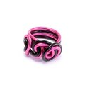 Bague loops rose fushia