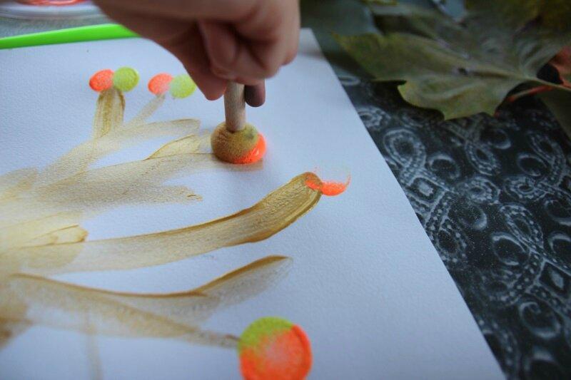 Arbre d'automne peinture
