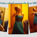Robe cocktail pour mariage, sur mesure
