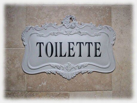 plaque toilette