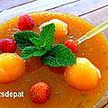 Soupe de melon à la menthe et huile d'olive
