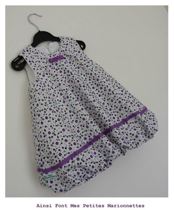 robe boule blanche et violette maelenn 1