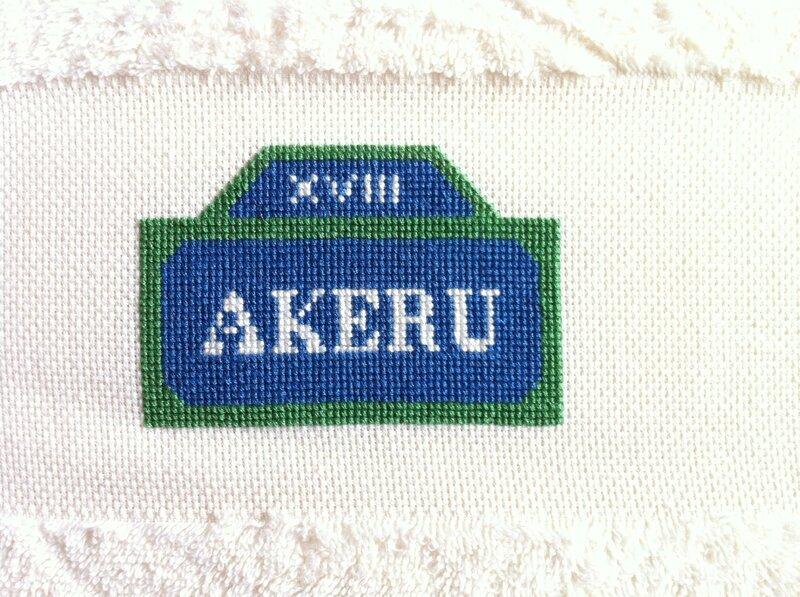 Plaque de Paris prénom - AKERU 1