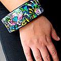 bracelet graffiti & colibri