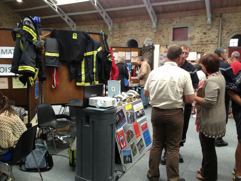 Forum des associations Avranches 2013 sapeurs-pompiers