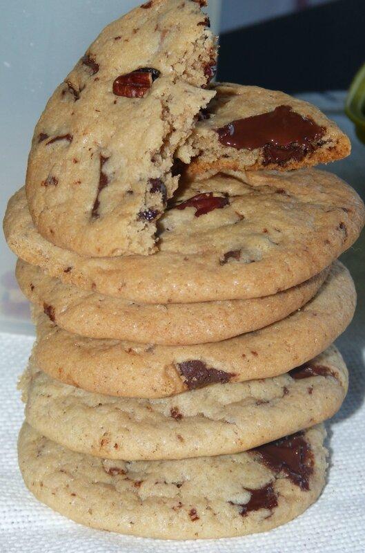 cookies noix de pecan chocolat