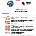 Intersyndicale transports routiers - communiqué : conducteurs routiers : les exclus de l'europe