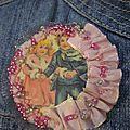 Une broche à la manière de bm n°18 rose...