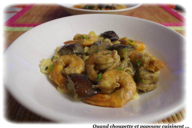 Crevettes aux curry vert et nouilles Coréennes-8197