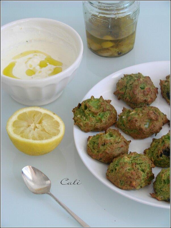 Cookies de Brocoli, Feta & Olives Noires 001