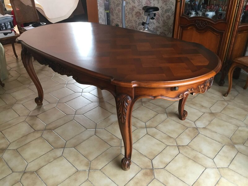 (9) table merisier