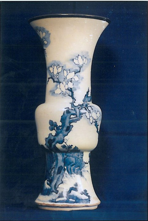 Vase cornet gu. Chine, priode Kangxi (1662-1722).
