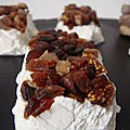 Mini terrines de fromage de chevre, mascarpone et fruits seches