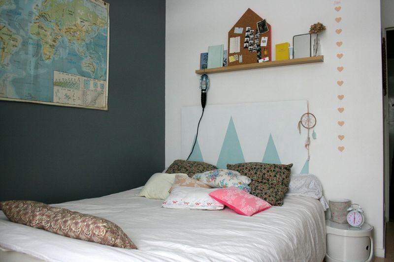 La t te de lit emilie sans chichi - Idee tete de lit en peinture ...