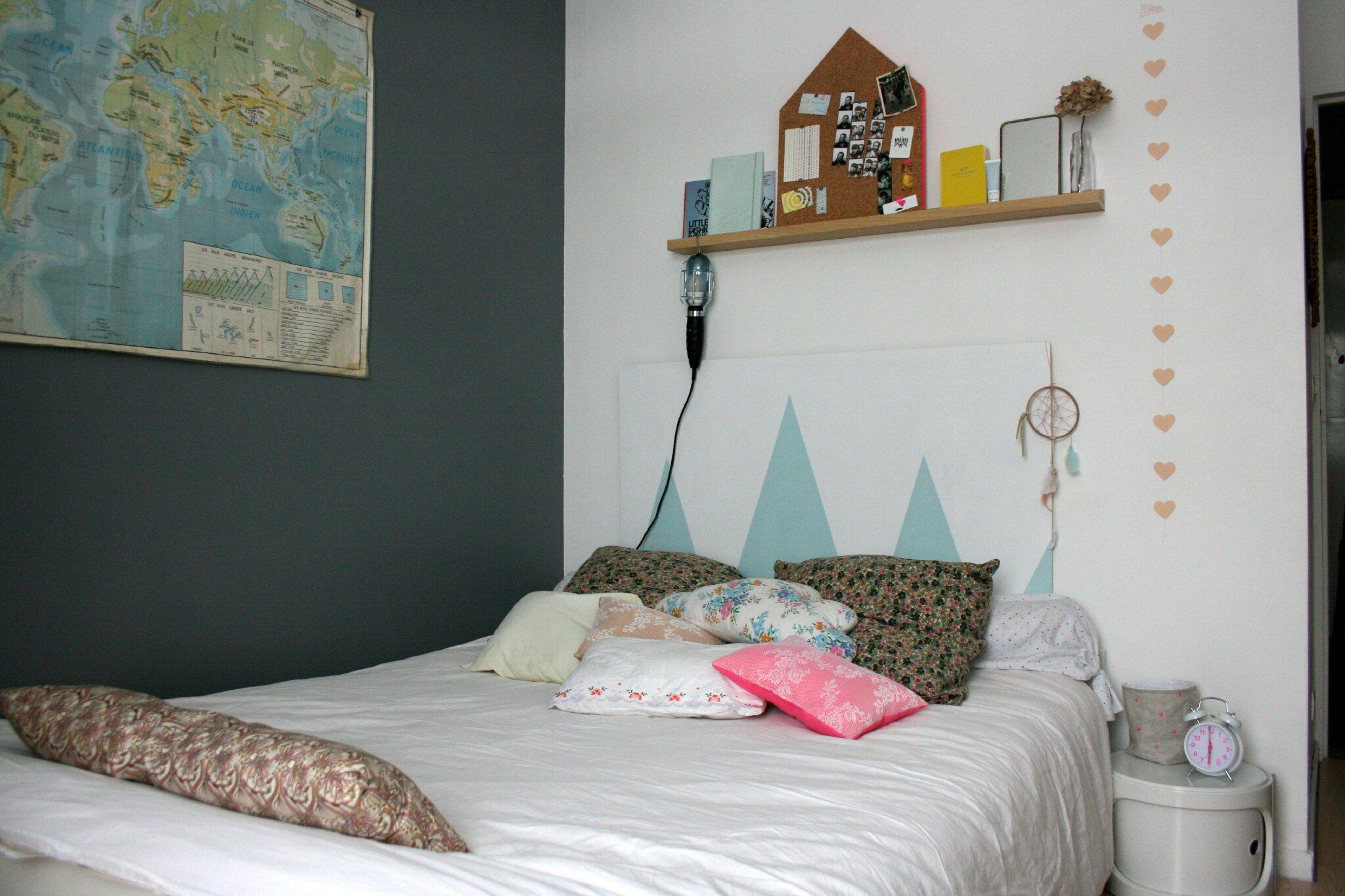 La t te de lit emilie sans chichi - Peindre une tete de lit ...
