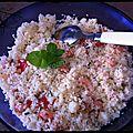 Taboulé saumon et crevettes