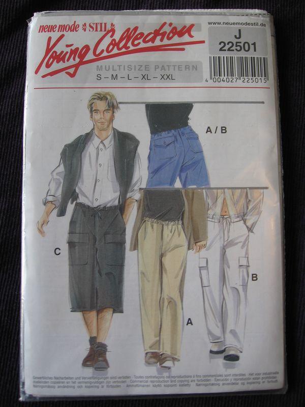 patron pantalon poche coté