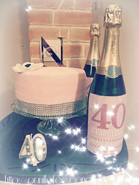 champagne 40th birthday blog