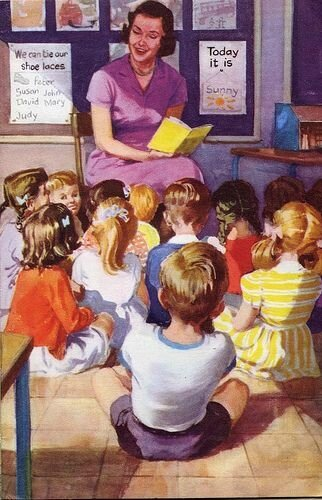 Going to School - Ladybird books series 563 - by M E Gagg - illustrated by Harry Wingfield - First Published 1959