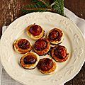 Tartelettes aux tomates cerises et réduction de vinaigre balsamique