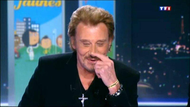 le 07 janvier 2014 Johnny sur TF1 pour les piéces jaunes (5)