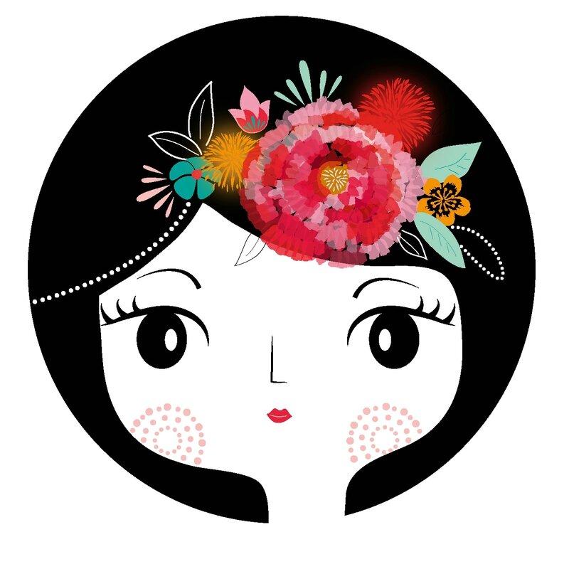 zabeil-Frida-illustration-visage-fleur