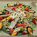 Salade de moules et d'artichauts