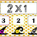 Tables de multiplication (x2) : jeu autocorrectif