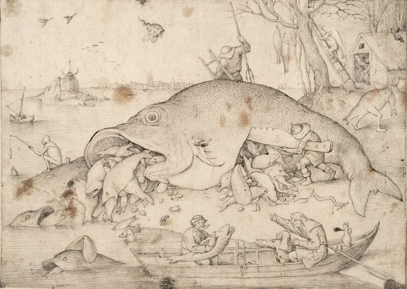 Big Fish eat little Fish, 1556
