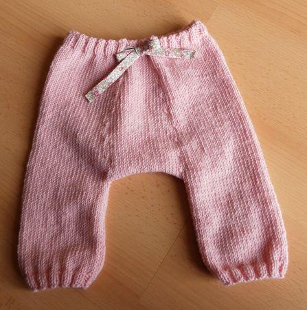 tuto tricot sarouel bebe