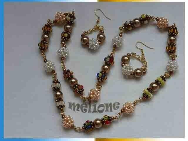 sautoir de perles perlées