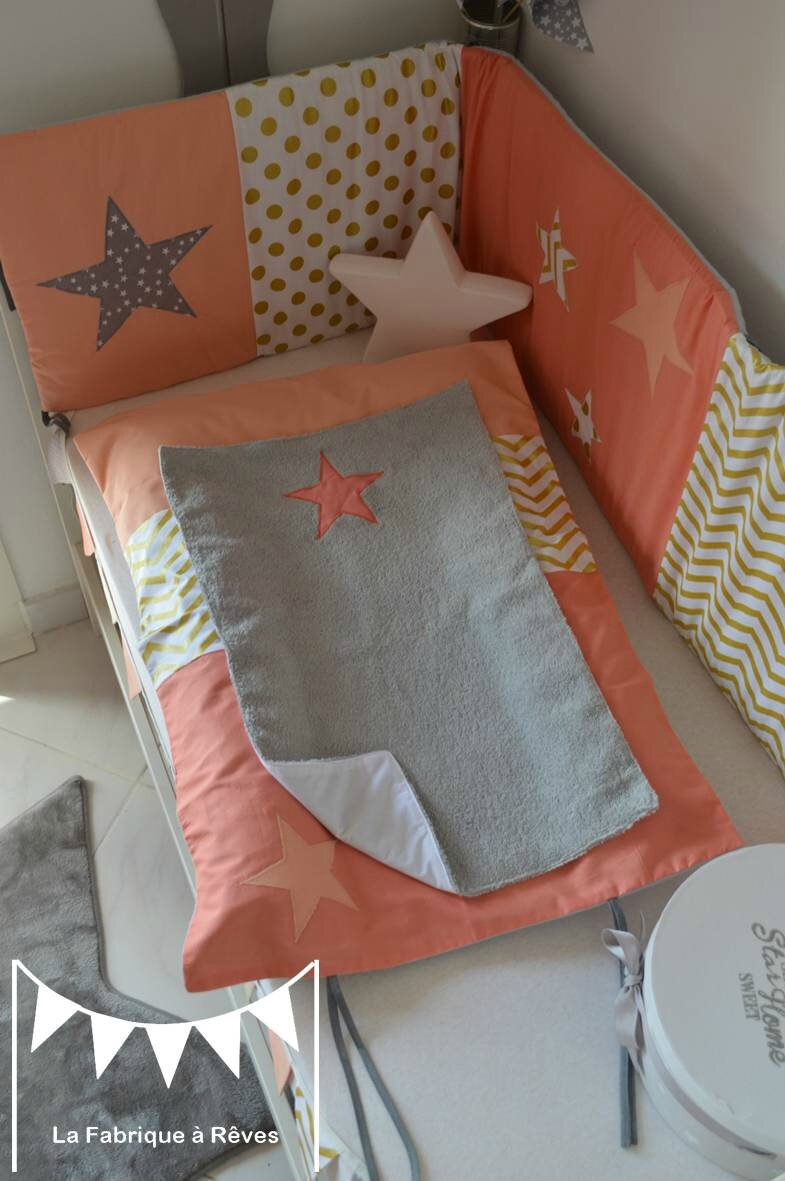 housse matelas langer abricot corail dor gris toiles chevron pois photo de housse de. Black Bedroom Furniture Sets. Home Design Ideas