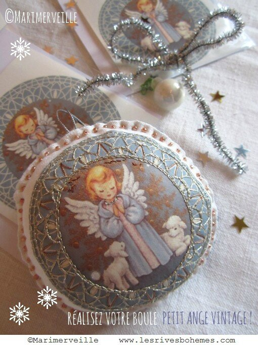 Marimerveille transfert petit ange vintage