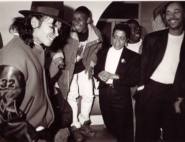 Michael Jackson and Jesse Vaughan capital museum 1990