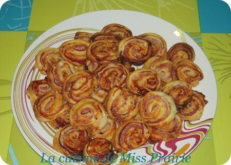 Mini-feuilletés bacon-parmesan