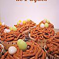 Cupcakes de pâques - petit nid de pâques