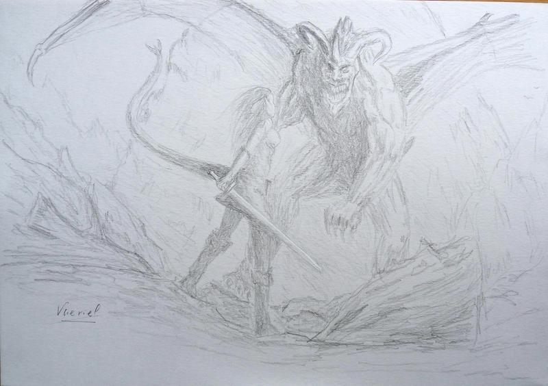 Sketch 2 elfe et démon