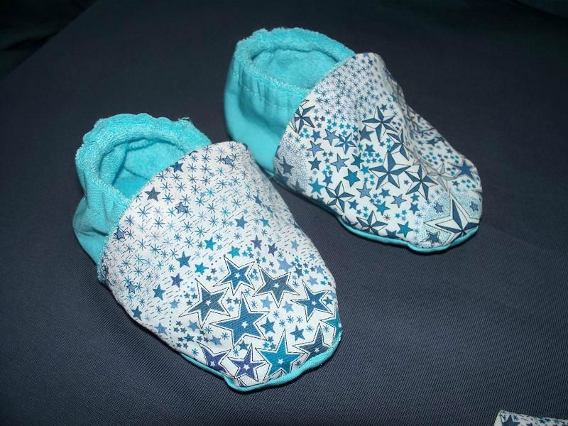 Tuto couture chaussons bebe - Patron pour chausson bebe ...