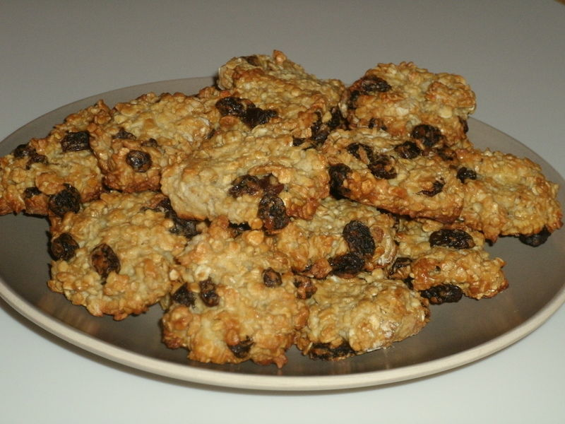 Biscuit avoine et raisin