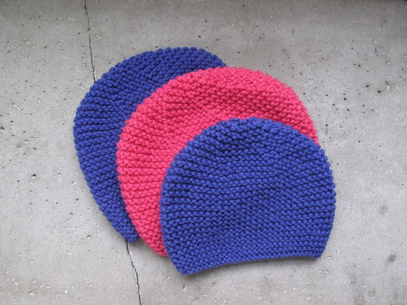 modele bonnet bebe tricot point mousse