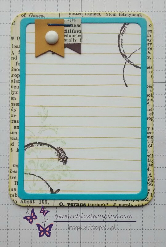 DIY project life card series Yello vintage 2