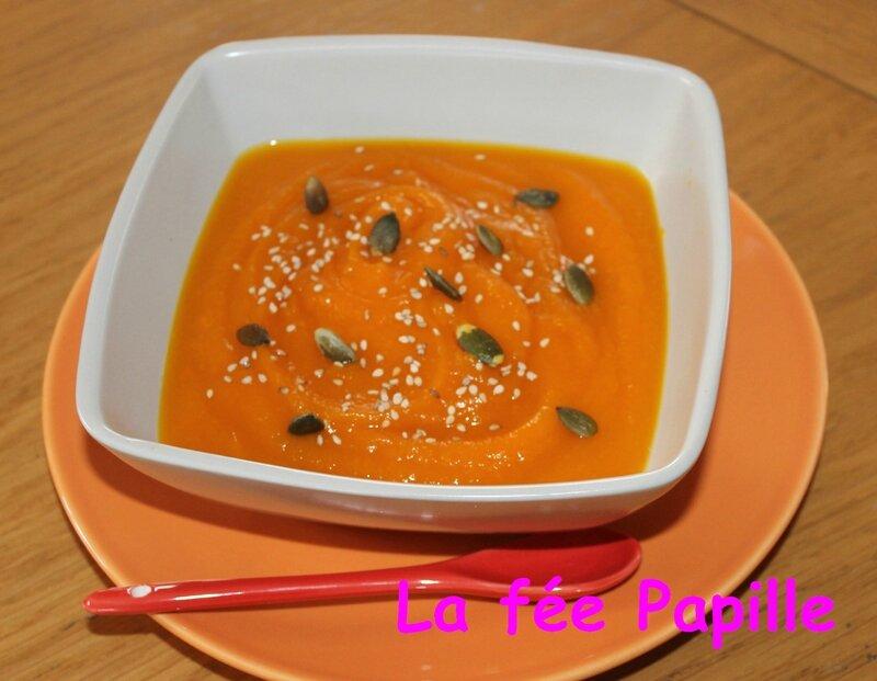 velouté potimarron carotte sésame