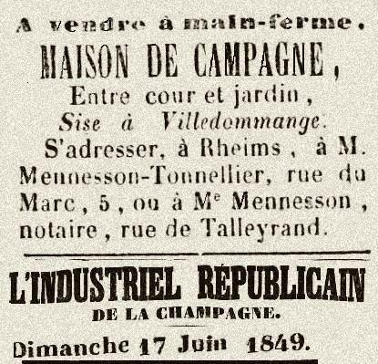 1849 MENNESSON TONNELIER