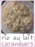 riz au lait aux carambars - index